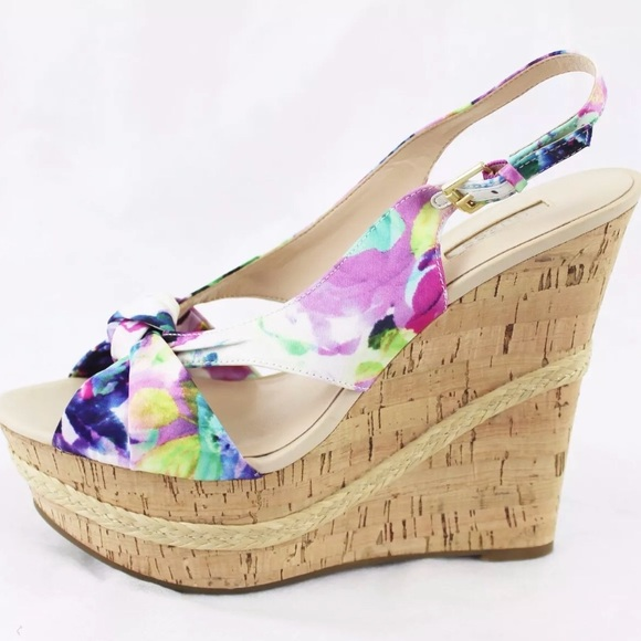 Sandals Poshmark Guess Wedge Delilan ShoesWomens Pink Floral iOPZwXuTk